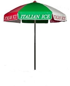 Italian Ice Pretzels Vendor Cart Concession Umbrella With Tilt Mechanism