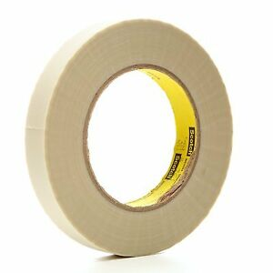 3m 361 Glass Cloth Tape 361 White 3 4 In X 60 Yd 7 5 Mil