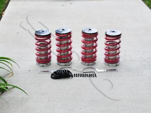 Red Spring Lowering Suspension Coilover Kit Civic 1988 2000 Integra 1990 2001