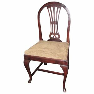 Pair Of Antique Continental Mahogany Side Chairs Circa 1790