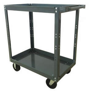 Grainger Approved Steel Unassembled Utility Cart 52 L 1000 Lb 2xjp6 Gray