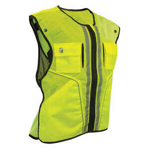 Falltech Polyester Construction Safety Vest lime l xl G5051lx Lime