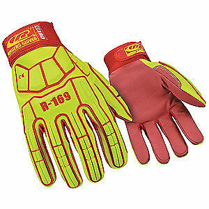 Ringers Glo Impact Gloves xl synthetic Leather pr 169 11 High Visibility Green