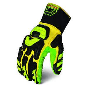 Impact Gloves l yellow green black pr Indi had 04 l High Visibility Yellow Gr