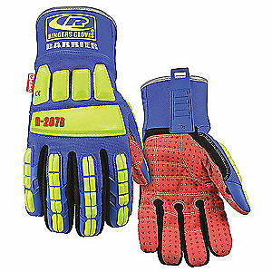Ringers Gloves Impact Gloves l spandex pr 267b 10 High Visibility Green blue