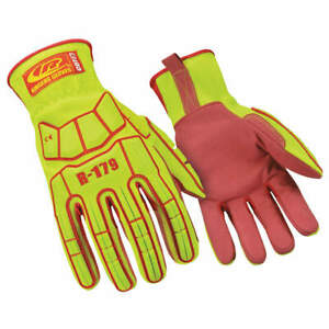 Ringers Gloves Impact Gloves l full Finger pr 179 10 High Visibility Green