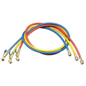 Yellow Jacket Manifold Hose Set low Loss 60 In 29985 Red Yellow Blue