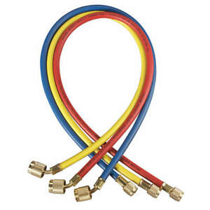 Yellow Jacket Manifold Hose Set low Loss 60 In 22985 Red Yellow Blue