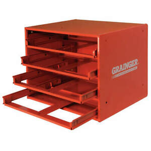 Durham Drawer Cabinet Frame 4 Drawers red 303 17 s1157 Red