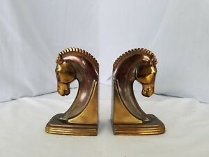Mid Century Iconic Horse Head Bookends