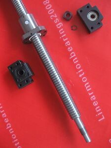 1 Anti Backlash Ballscrew Rm2510 1125mm c7 1set Bk bf15 Cnc