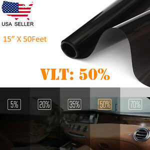 Uncut Window Tint Roll Film 50 Vlt 15 50 Ft Car House Office Glass Commercial