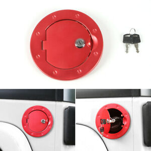 Fuel Filler Door Cover Gas Tank Cap For 07 17 Jeep Wrangler Jk Free Shipping Red