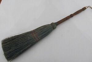 Vintage Wood Handle Broom Farmhouse Fireplace Tool Hearth Wooden 28 Long