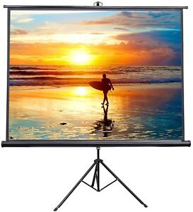 Projection Screen Vivo 100 Ps t 100 Folding Tripod Stand 4 3 Format Pull Up New