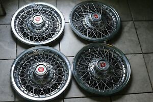 4 1980 70s Chevrolet Caprice 15 Wire Spoke Hubcap Set Of Four