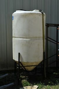 Ace Roto mold 300 Gallon Cone Bottom Hdpe Poly Tank With Stand