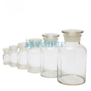 60ml 125ml 250ml 500ml 1000ml Glass Jar Wide Mouthed Reagent Bottle Chemical