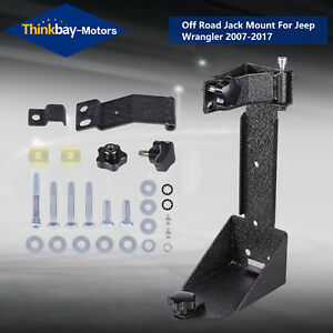 Black Off road Jack Mount Spacer Hood Bracket For Jeep Wrangler Jk 2007 2017