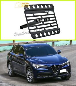 Alfa Romeo Stelvio For 17 Up Front Bumper Tow Hook License Plate Bracket