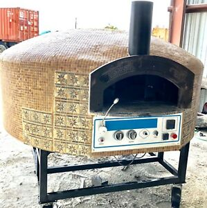 Pizza Oven Commercial Oven Natural Gas And Wood Aroma Stone Oven Rotational Base