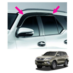 Fits Toyota Fortuner Suv 15 17 2018 Visor Sun Deflector Weather Guard Genuine