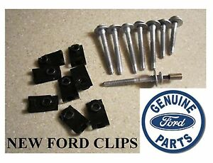 8 Ford Superduty Truck Bed Bolts 8 New Bed Clips Socket Ford Super Duty