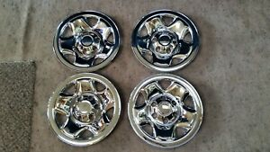 Snap On Steel Wheel Chrome Skins Hubcaps Fit 05 15 Toyota Tacoma 16 Inch