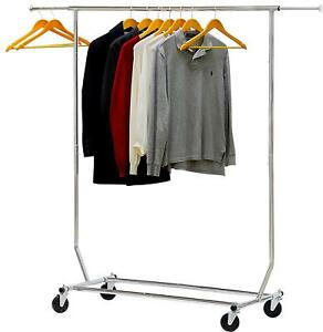 Simplehouseware Supreme Commercial Grade Clothing Garment Rack Chrome