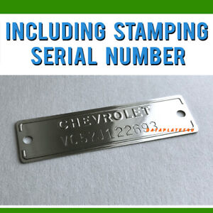 Chevrolet 1953 1963 Data Plate Id Tag Chevy Trucks Cars Corvette Stamped Number