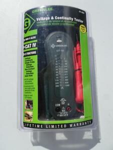 Greenlee Gt 65p Voltage And Continuity Tester New