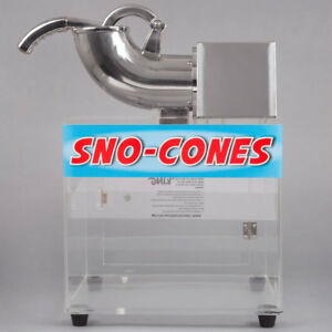 Scm250 Commercial Countertop Snow Cone Maker Shaved Ice Machine Electric Crusher