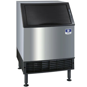 26 Air Cooled Undercounter Half Size Cube Ice Machine With 90 Lb Bin 193 Lb