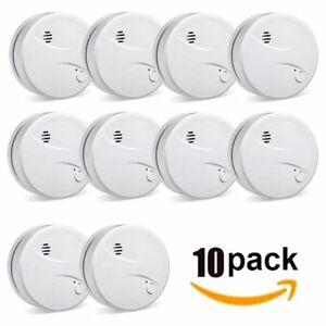 10x Photoelectric Smoke Detector Fire Alarm 10 Year Yr Battery fast Shipping My