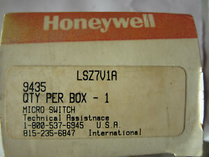 Honeywell Micro Switch Lsz7v1a Limit Switch 10a 600v New In Box Free Shipping