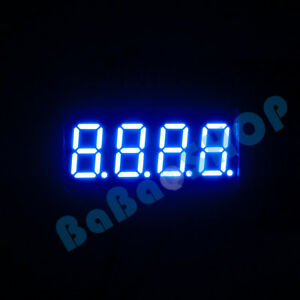 2pc 50pcs 0 36 0 36 Inch 7 Segment Display Red Blue Led 4 Digit Common Anode