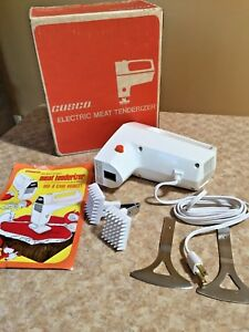 Vtg Electric Cosco Meat Tenderizer model Mt2 with Cleaver dicer Blades