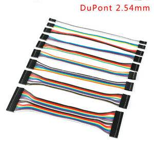 2 3 4 5 6 7 8 9 10 12 20p Dupont 2 54mm Ribbon Connector Wire Cable F f 20cm
