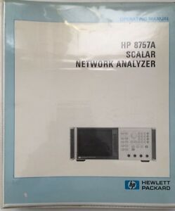 Hp 8757a Scalar Network Analyzer Operating Manual P n 08757 90034