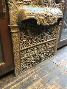 Antique Fireplace Summer Cover Fireplace Grate Fireplace Insert Lions Face