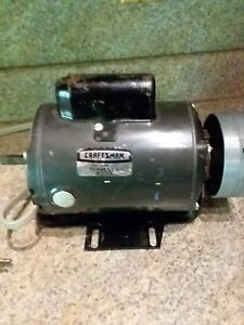 Craftsman Power Tool Electric Motor 3 4horse Power With Shaper Drive Pulley