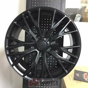 18 19 Z06 Zo6 Style Satin Black Wheels Rims Fits 2005 2013 Corvet