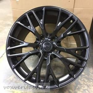 18 19 Satin Black C7 Z06 Style Wheels Rims For 2005 2013 C6 Corvette Base Z51
