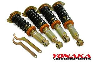 Yonaka Mazda Miata Nb Coilovers Mx5 Adjustable Dampening Suspension 2g 99 05