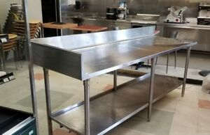 Heavy Duty Stainless Steel Tables 88 X 30 35