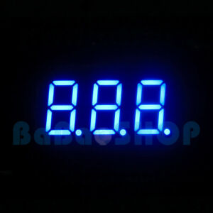 2 20 50x 0 36 0 36 Inch 7 Segment Display Blue Led 3 Digit Common Anode Cathode