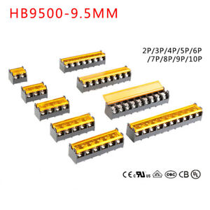 Barrier Screw Strip Terminal Block Hb 9500 2p 5p 6p 7p Pitch 9 5mm 300v 30a