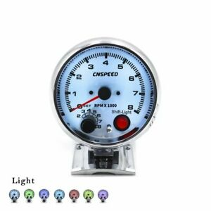 3 3 4 Universal Car 7 Colors Led 0 8000 Rpm Tachometer Gauge Racing Meter