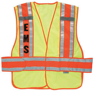 Ergodyne Safety Vest orange inc Cmnd xl 2xl 21386 ems