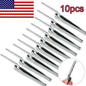 10pcs Dental Holding Forceps Straight For Articulating Paper Holder Usa Ship